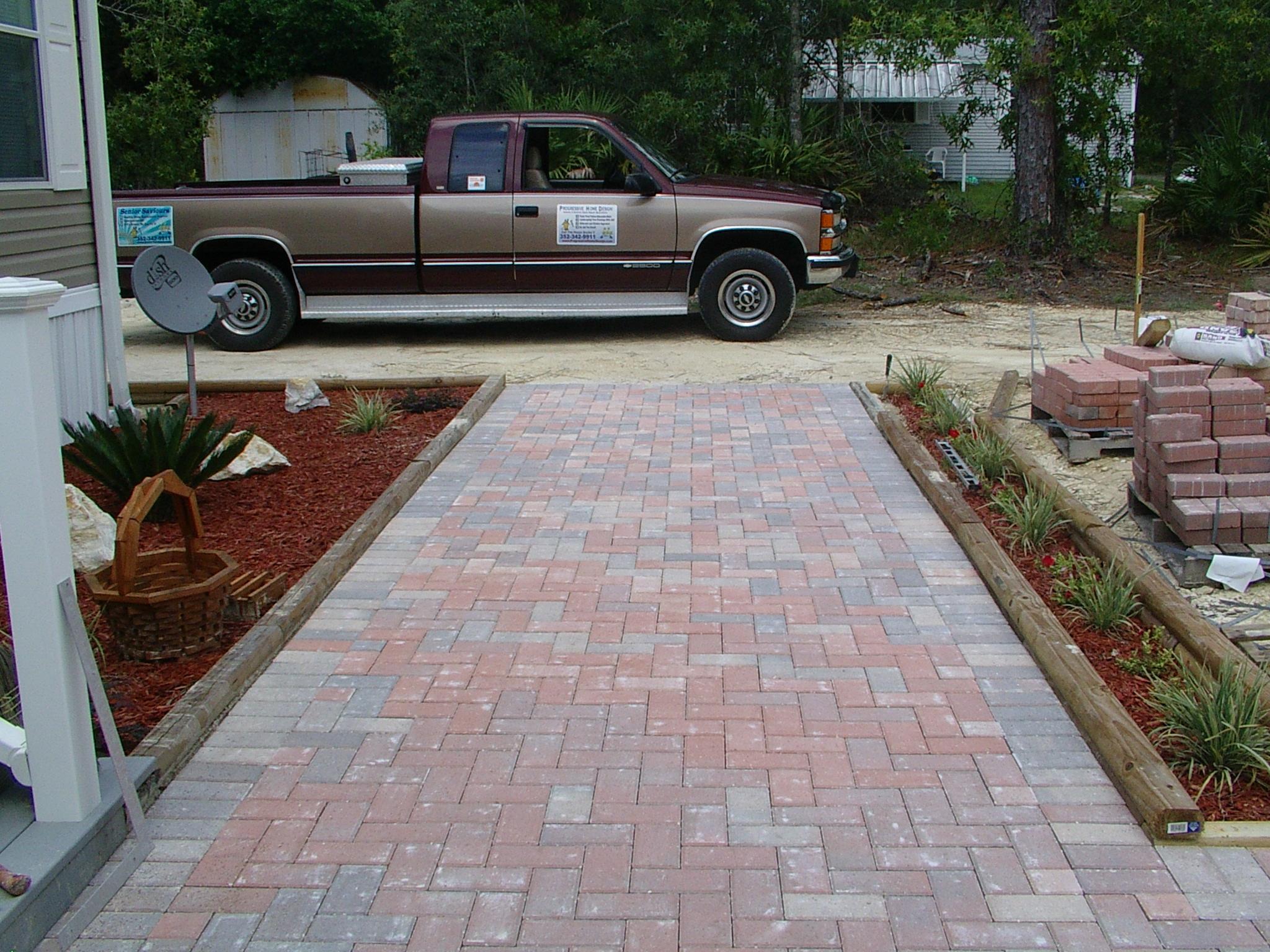 sidewalk paver ideas